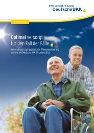 Pflege - Optimal versorgt - für den Fall der Fälle - Deutsche BKK