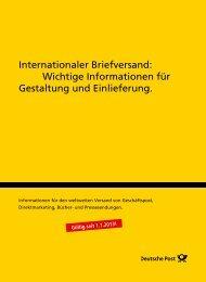 Wichtige Informationen für Gestaltung und ... - Deutsche Post
