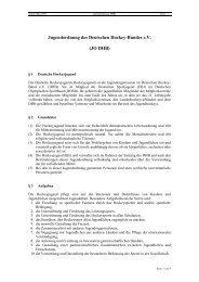 Jugendordnung des DHB - Deutscher Hockey Bund e.V.