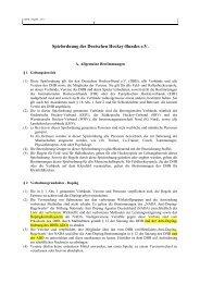 Spielordnung DHB - Deutscher Hockey Bund e.V.