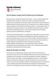 Auf den Spuren Caspar David Friedrichs durch Greifswald