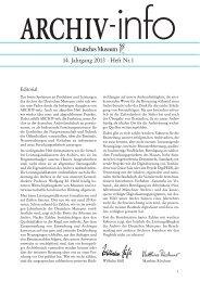 14. Jahrgang 2013 · Heft Nr.1 - Deutsches Museum