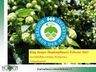 Verbandsarbeit - Verband Deutscher Hopfenpflanzer e.V.