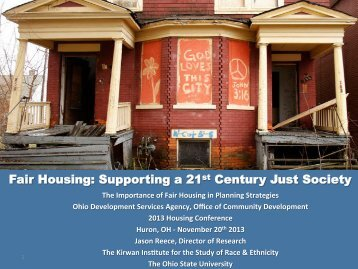 Importance Of Fair Housing In Planning Strategies