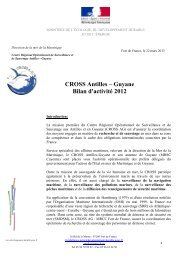 CROSS Antilles – Guyane Bilan d'activité 2012 - Ministère du ...
