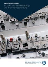 Werkstoffauswahl für Stanz - Deutsche Edelstahlwerke GmbH