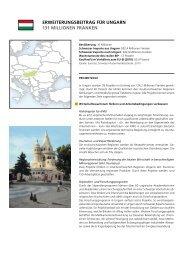 ErwEitErungsbEitrag für ungarn 131 MiLLionEn ... - Deza - admin.ch