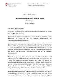 Globale nachhaltige Entwicklung – Beitrag der Schweiz - Deza