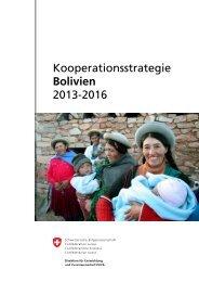 Kooperationsstrategie Bolivien 2013-2016 - Deza - admin.ch