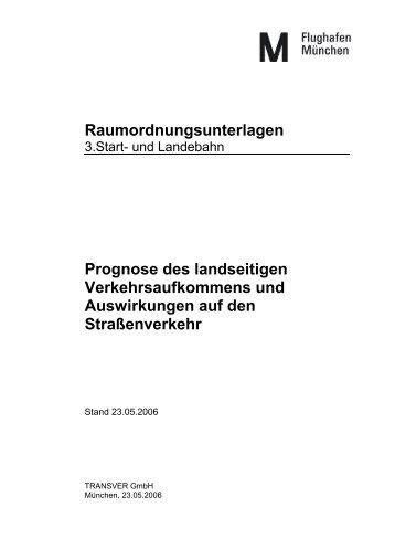 Prognose des landseitigen Verkehrsaufkommens und ...