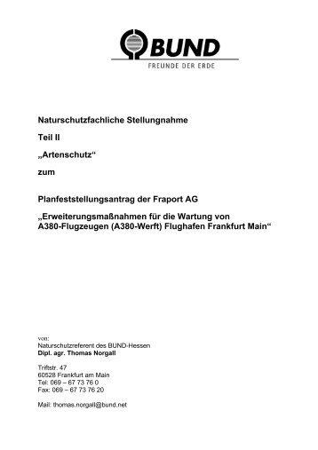 """Naturschutzfachliche Stellungnahme Teil II """"Artenschutz"""" zum ..."""