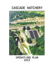 Cascade Hatchery - Oregon Department of Fish and Wildlife