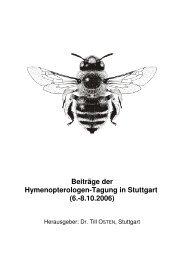 Beiträge zur Hymenopterologen-Tagung in Stuttgart 2006 - DGaaE