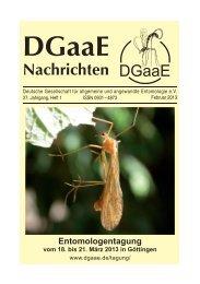 DGaaE-Nachrichten 27(1)