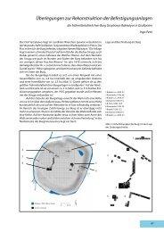 Überlegungen zur Rekonstruktion der Befestigungsanlagen
