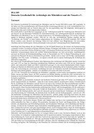 05.4-109 Deutsche Gesellschaft für Archäologie des Mittelalters und ...