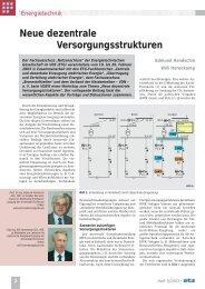 Neue dezentrale Versorgungsstrukturen - DGBMT