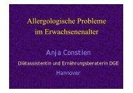Allergologische Probleme im Erwachsenenalter - DGEM