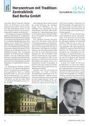 Herzzentrum mit Tradition: Zentralklinik Bad Berka GmbH