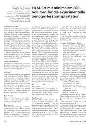 HLM-Set mit minimalem Füllvolumen für die experimentelle xenoge ...