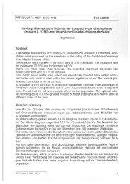 ARTICULATA 1997 12(1): 1-18 ÖKOLOGIE Habitatpräferenzen und ...