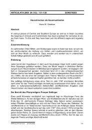 ARTICULATA 2009 24 - Deutsche Gesellschaft für Orthopterologie