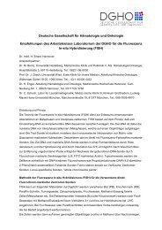 Empfehlungen des Arbeitskreises Laboratorium der DGHO für die ...