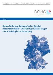 Gesundheitspolitische Schriftenreihe der DGHO | Herausforderung ...