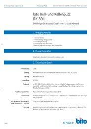 Technisches Datenblatt RK 391 - Bito AG