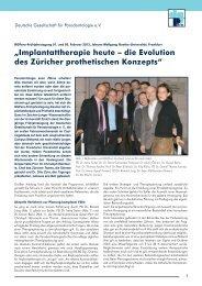 Bericht - Deutsche Gesellschaft für Parodontologie