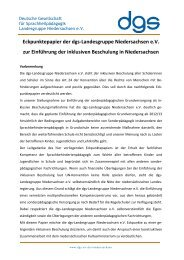 Eckpunktepapier der dgs-Landesgruppe Niedersachsen e.V. zur ...