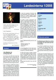 Landesinterna 1/2008 - Deutsche Gesellschaft für ...