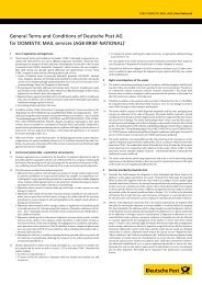 General Terms and Conditions for Brief National - DHL