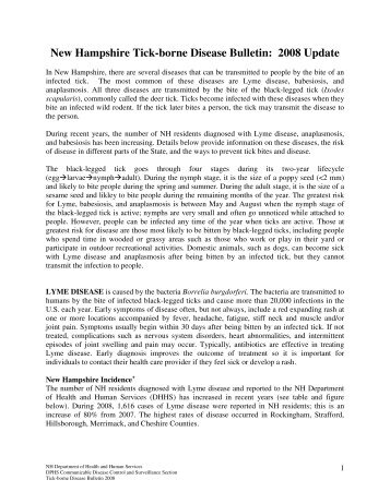 Tick-borne Disease Bulletin 2008 - New Hampshire Department of ...