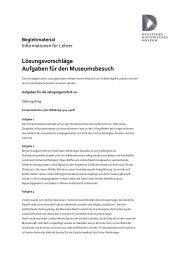 Lösungsvorschläge für den Museumsbesuch der Jahrgangsstufen 8 ...