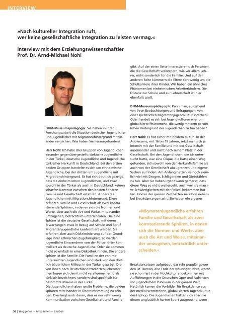 Interview mit Prof. Dr. Arnd-Michael Nohl - Deutsches Historisches ...