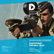 September– Oktober 2013 - Deutsches Historisches Museum