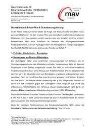 Dienstfahrt mit Privat-Pkw - DIAG - MAV Freiburg