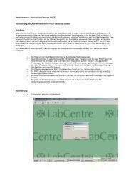 Bedsidetestung = Point of Care-Testung (POCT) Durchführung der ...