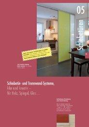 Schiebetüren Alpha Farbprospekt 2011 - BFB GmbH