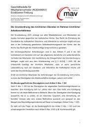 Grundordnung - Loyalitätsobliegenheiten - DIAG - MAV Freiburg
