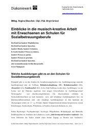 Einblicke in die musisch-kreative Arbeit mit Erwachsenen an ...