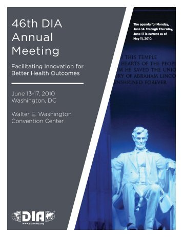 46th DIA Annual Meeting - Drug Information Association