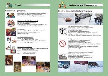 Freizeit Neuigkeiten und Wissenswertes Massiver Schneefall in Tirol ...