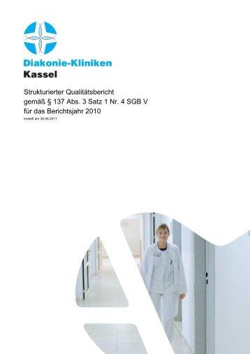 Qualitätsbericht 2010 - AGAPLESION DIAKONIE KLINIKEN KASSEL