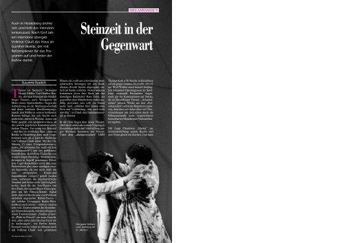 Steinzeit in der Gegenwart - Die Deutsche Bühne