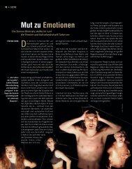 Mut zu Emotionen - Die Deutsche Bühne