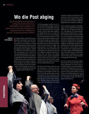 Wo die Post abging - Die Deutsche Bühne
