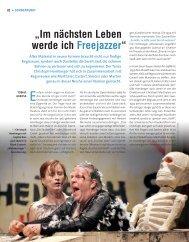 """""""Im nächsten Leben werde ich Freejazzer"""" - Die Deutsche Bühne"""