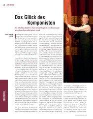 Das Glück des Komponisten - Die Deutsche Bühne